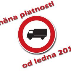 Změna platnosti zákazu vjezdu nákladním vozidlům